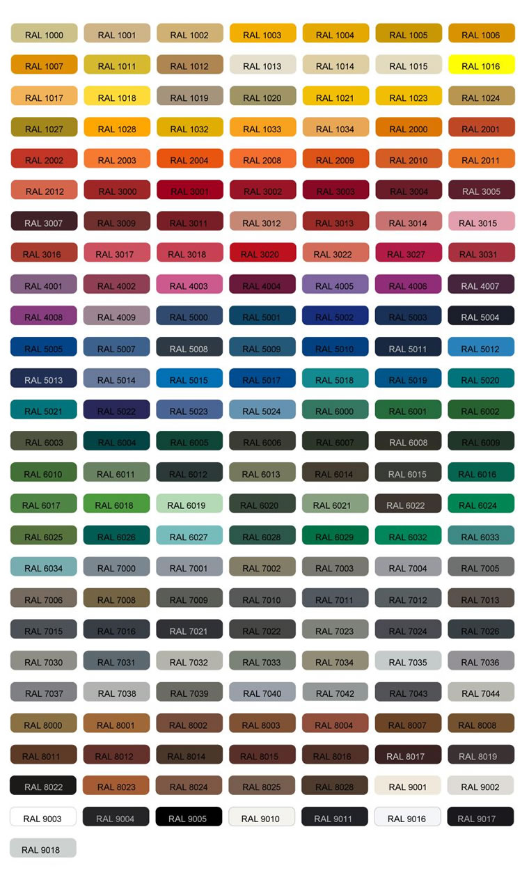 Color chart of thermoplastic pe and pvc powders color chart of pe and pvc powders supplied by our company nvjuhfo Images